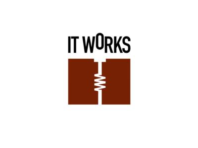 IT Works Logotype type movement identity logo logotype