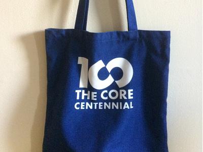 Core 100 Logotype on Totebag typography totebag owl logotype logo humanities futura bold bag 100
