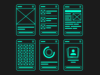 Glowing wireframes