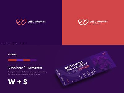 Wise Summits logo conception graphic design logo branding @brand @identity @logo