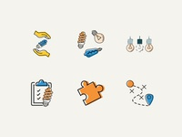 Knowledge Transfer Icons