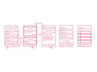 Event Application Wireframes