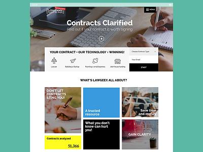 LawGeex Homepage homepage ux ui branding website web design