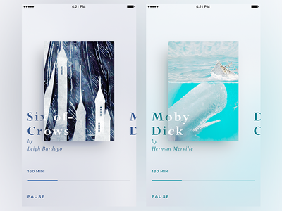 Pure Design Audio Book App ux timeline simple reading pure player music moby dick minimalist minimal book app