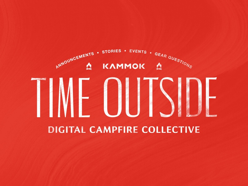 Time Outside Collective logo branding illustration texture events campfire digital collective kammok time outside