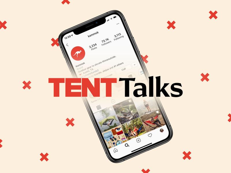 Sunda 2.0 TENT Talks logo kammok design x parody spoof talks tent ted talks