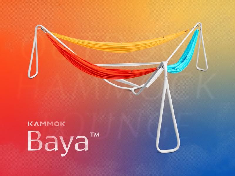 Baya - Hammock Lounge design summer texture outdoors kammok recreation outdoor 3 hammock stand lounge hammock baya