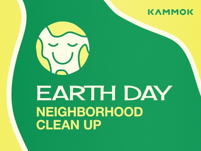 Earth Day 2021 - Neighborhood Cleanup clean up yellow green earth day illustrator design illustration summer kammok texture