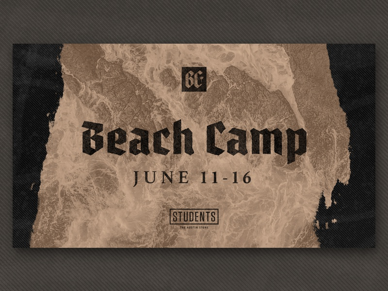 Beach Camp 2018 beach camp crash overlay students texture sand water waves camp beach
