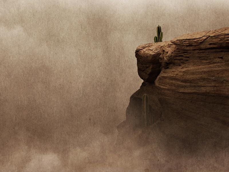 Desert Cliffs band rock album artwork ep release photoshop fantasy music wild west cactus