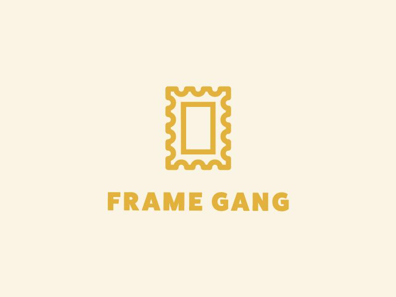 Frame Gang mark line monoline illustrator minimal simple gang frame frames pugs thug pug