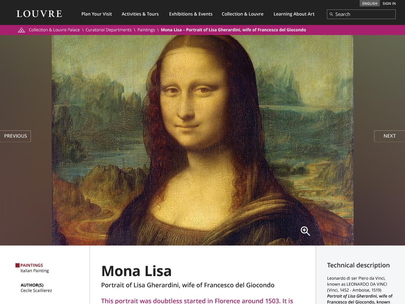 Louvre - Web Design Challenge mockup adobe xd ui  ux ui web design design challenge louvre mona lisa