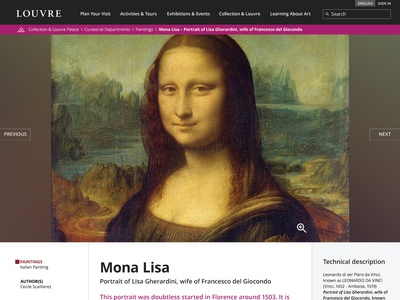 Louvre - Web Design Challenge