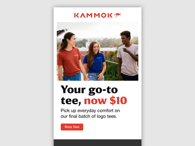 01.26.20 Tee Deal - Kammok Email products design after effects ui email marketing email design kammok