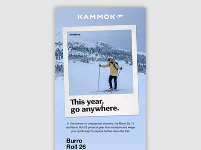 01.11.20 - Burro Winter - Kammok Email kammok email marketing email design iu after effects design products