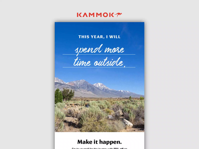 12.28.19 - New Year Resolutions kammok email design email marketing ui after effects design products