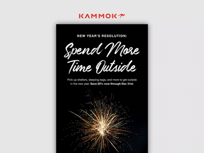 12.26.19 - Spend More Time Outside products design after effects ui email marketing email design kammok