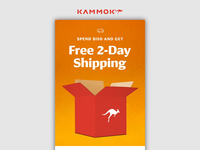 12.18.19 - Two Day Shipping products design after effects ui email marketing email design kammok