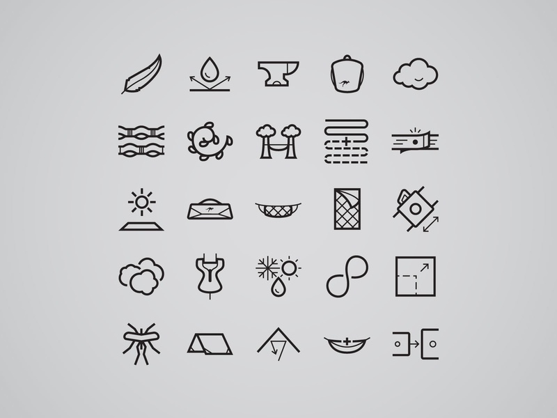 Product Features for Kammok Products illustrator product features kammok icon set icons features