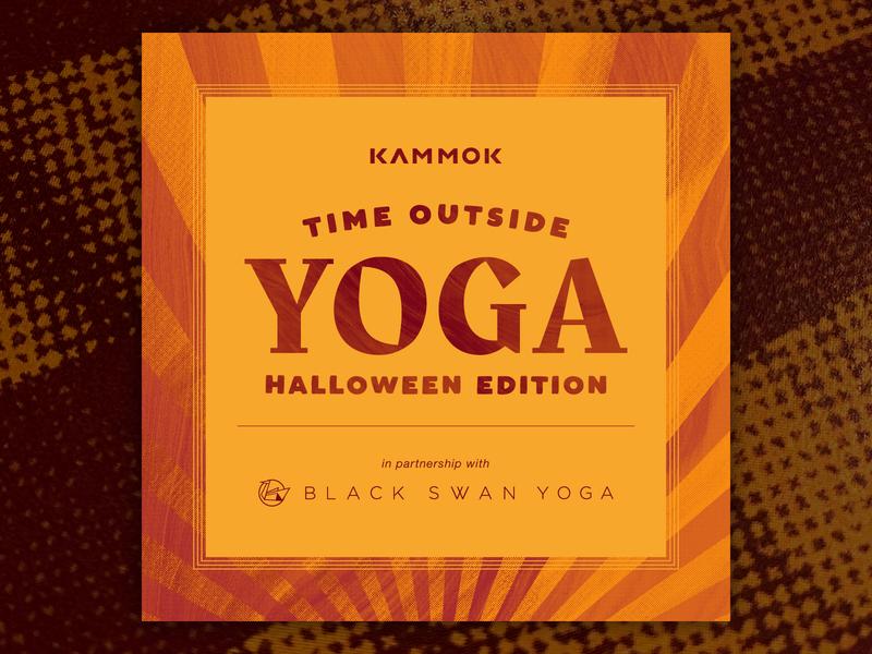 Time Outside Yoga - Halloween Edition sunshine fall event instagram illustration texture halloween yoga time outside