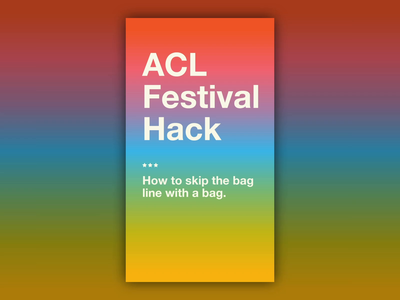 Pika Pack Ad summer iphone x colors rainbow instagram story instagram ad pika pack austin city limits acl