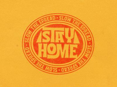 Stay Home interlock midcentury groovy funk aiyari display vintage retro open type stayhome corona covid19