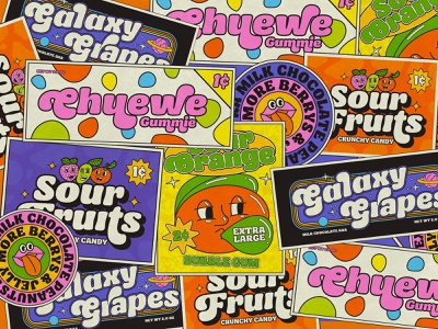 Retro Candy Label open type display funk groovy sans vintage baloon 60s 70s retro font font design font family type typedesign typography typeface aiyari