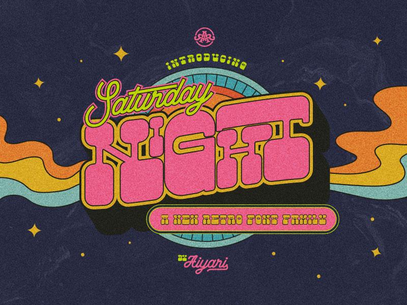 Saturday Night Font Family by Ricky Rinaldi on Dribbble