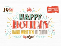 Happy Holiday Font Collection + Extras