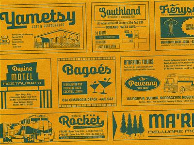 Retro Newspaper Ad & Tickets fontbundle hand lettering display vintage script retro open type typeface aiyari