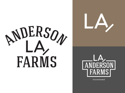 Anderson Farms logo branding brand louisiana illustrator anderson farms cattle agriculture farm logo