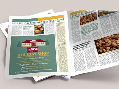 2019 Louisiana Farm Bureau Holiday Shop Newspaper Ad holiday shop holidays illustration farm christmas illustrator farm bureau design agriculture louisiana
