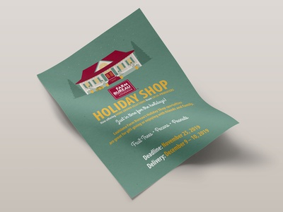 2019 Louisiana Farm Bureau Holiday Shop Office Flyer holiday shop holidays illustration farm christmas illustrator farm bureau design agriculture louisiana