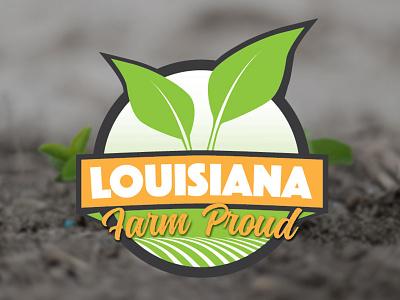 Louisiana Farm Proud farm louisiana green agriculture logo brand social media lafarmproud