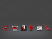 Advertising agency iconset