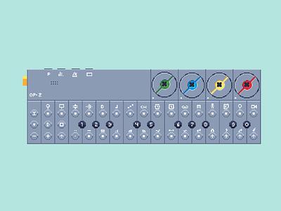 OPZ Pixel Art retro pixel teenageengineering opz synthesizer synth pixelart