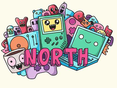 NORTH Promo procreate illustration branding logo design gamedesign