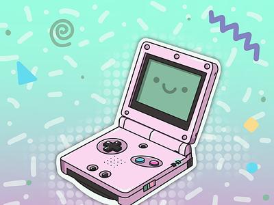 Retro Handheld design illustration retro