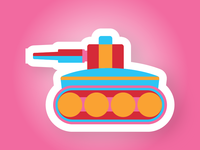 Funky Tank sticker