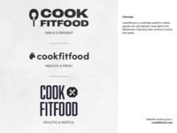 cookfitfood - logo for wellness brand