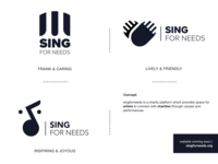 Sing for Needs - music charity logo