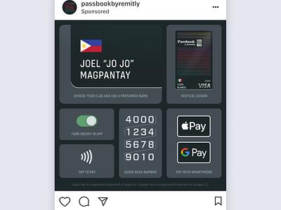 Social ad for Passbook marketing social media finance app fintech