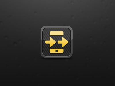 Arrowed!!! carbon fiber orangy-yellow iphone icon homestar4evar