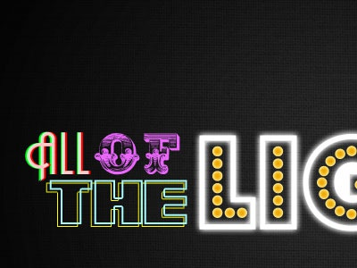 All of the Lights freebie fonts typography type layer effects ima let you finish