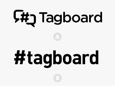 Tagboard Logo logo symbol logomark gotham rounded din hashtag