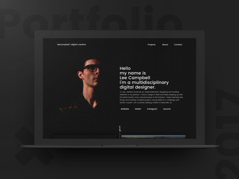 Rebooting Personal Portfolio may1reboot user interface ui work minimal clean dark portfolio