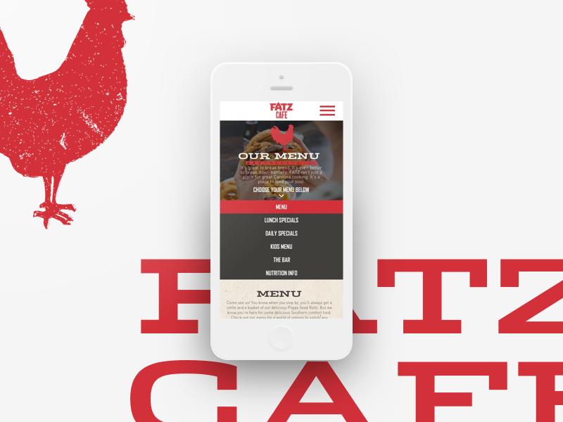 Fatz Mobile Menu web design user interface ui restaurant food minimal clean iphone mobile menu