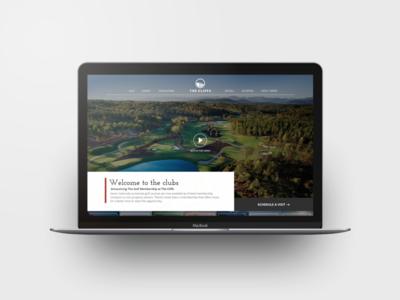 Golf Website Homepage