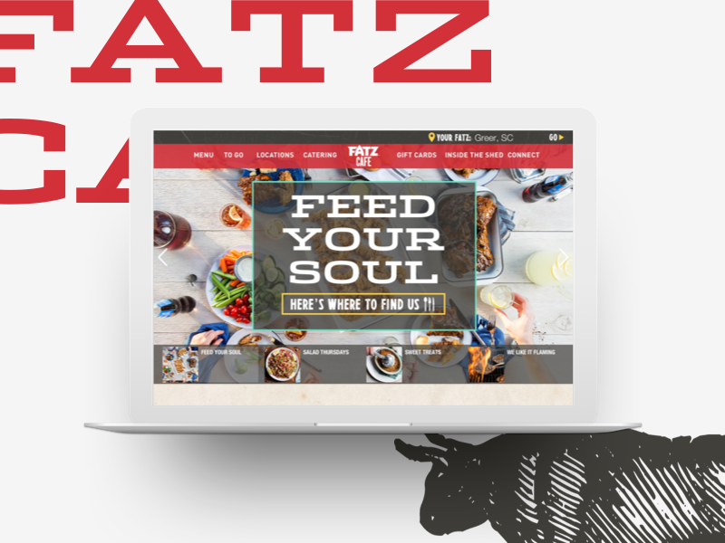 Fatz Homepage design user interface ui restaurant minimal menu food clean