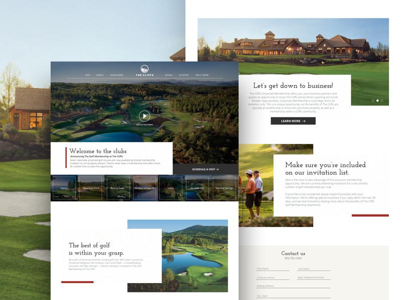 Golf Homepage homepage landing page website digital web design minimal ui